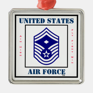 空軍SMSgtの中隊先任下士官- E-8 メタルオーナメント