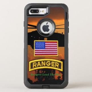 空輸のレーンジャーの退役軍人の獣医LRRP オッターボックスディフェンダーiPhone 8 PLUS/7 PLUSケース
