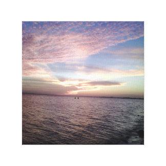 空、ピンク青 キャンバスプリント