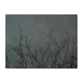 空、自然、及び木 ウッドウォールアート