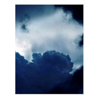 空、雲、鳥、ライト、暗闇、 ポストカード