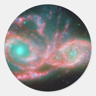 空NGC 2207 NASAの目 ラウンドシール