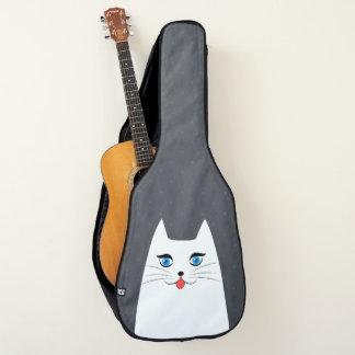 突き出る舌を搭載するかわいい猫 ギターケース