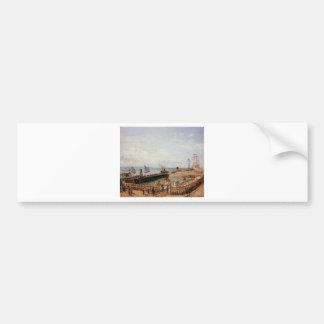 突堤、ルアーブルの満潮、朝日曜日 バンパーステッカー