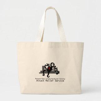 突然変異体または海の創造物またはエイリアンの実体の攻撃のレリーフ、浮き彫りSer ラージトートバッグ