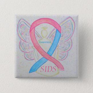 突然幼児死の (SIDS)認識度の天使Pin 5.1cm 正方形バッジ