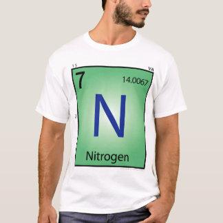 窒素(n)の要素のTシャツ-前部だけ Tシャツ