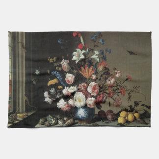 窓による花、バルタザールvan der Astのつぼ キッチンタオル
