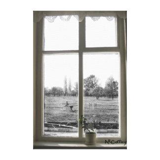 窓のキャンバスを通して キャンバスプリント