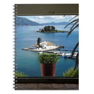 窓のギリシャ ノートブック