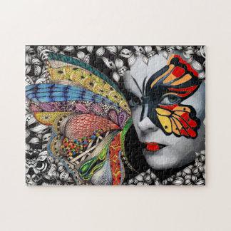 窓のパズルの蝶 ジグソーパズル