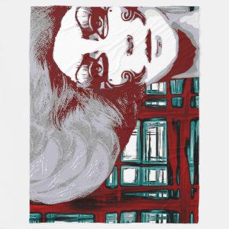 窓のフリースブランケットのポップ・アートのなヴィンテージの女性 フリースブランケット