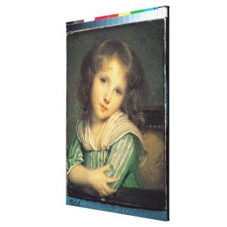 窓の女の子 キャンバスプリント