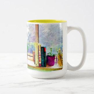 窓の本 ツートーンマグカップ