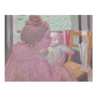 窓の母性、1901年 ポストカード