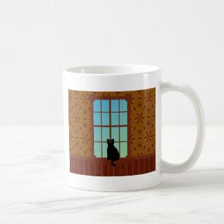 窓の猫 コーヒーマグカップ