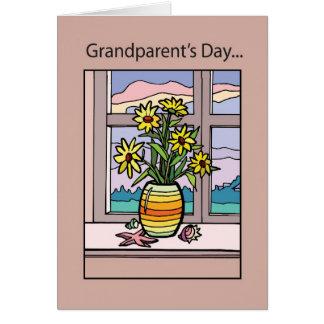 窓の祖父母の日のつぼ カード