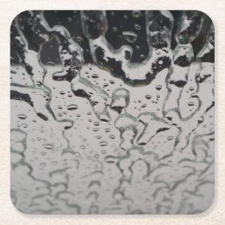 窓の雨低下 スクエアペーパーコースター