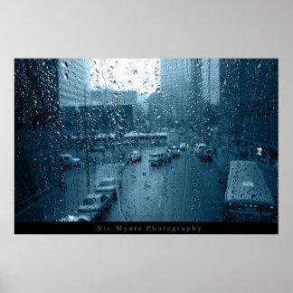 窓の雨 ポスター