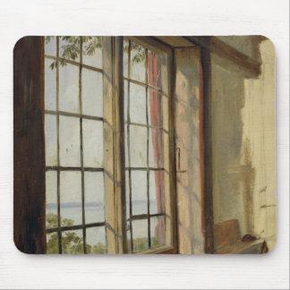 窓を通したエルベ川の眺め、1838年 マウスパッド