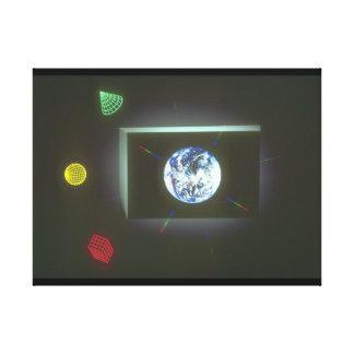 窓を通した地球。 (earth_Space場面 キャンバスプリント