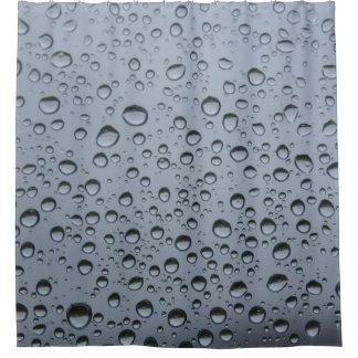 窓ガラスの雨滴 シャワーカーテン