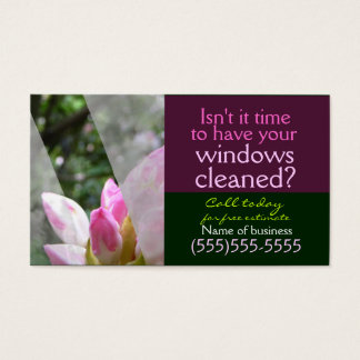 窓拭きのビジネスサービスのカスタマイズ可能なカード 名刺