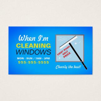 窓洗濯機、ウィンドウ・クリーナ 名刺