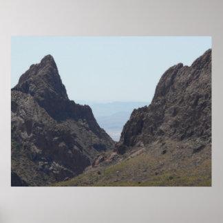 """""""窓""""の-ビッグ・ベンド国立公園、TX ポスター"""