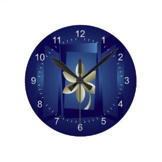 窓 ラウンド壁時計
