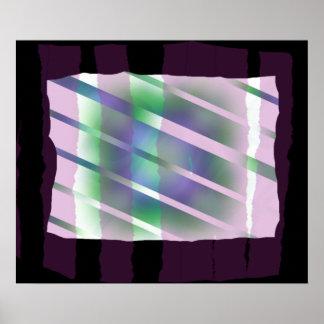 窓-異様なカラフルの抽象芸術 ポスター