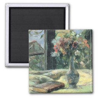 窓- 1881年の花のつぼ マグネット