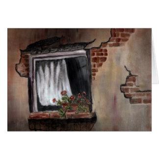 窓#1 -磁器の絵画 カード