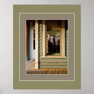 窓Artprintの女性 プリント