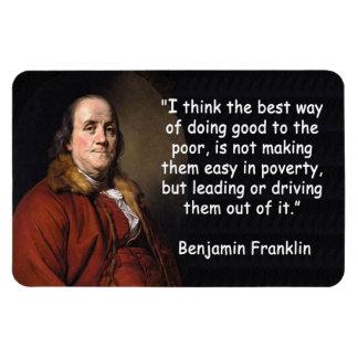 窮乏のベンジャミン・フランクリン マグネット