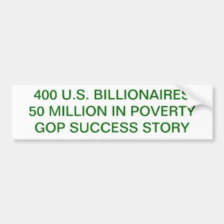 窮乏、富、税、GOP バンパーステッカー