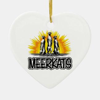 立つMeerkats セラミックオーナメント