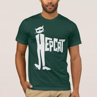 立て猫のロゴ Tシャツ