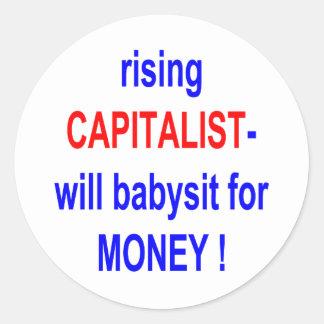 立上がる資本家はお金のためにベビーシッターをします! ラウンドシール
