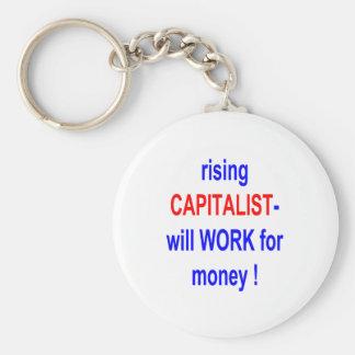 立上がる資本家はお金のために働きます! キーホルダー