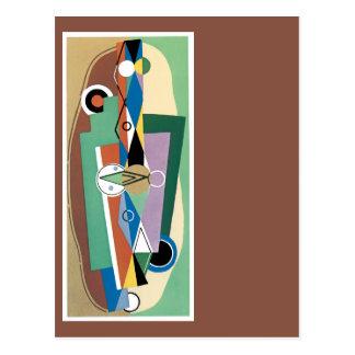 立体派の芸術家の抽象芸術 ポストカード