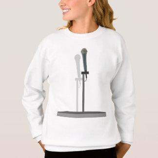 立場が付いているマイクロフォンのスエットシャツ スウェットシャツ
