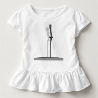 立場が付いているマイクロフォンの幼児のひだのティー トドラーTシャツ