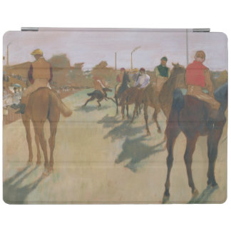 立場の前のエドガー・ドガ の競走馬 iPadスマートカバー