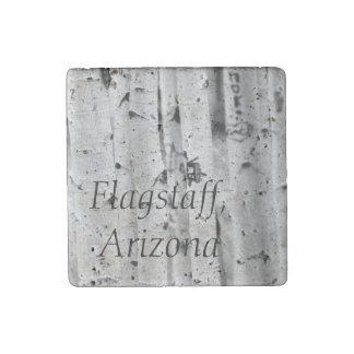 立場の高い《植物》アスペンのFlagstaff、アリゾナ ストーンマグネット