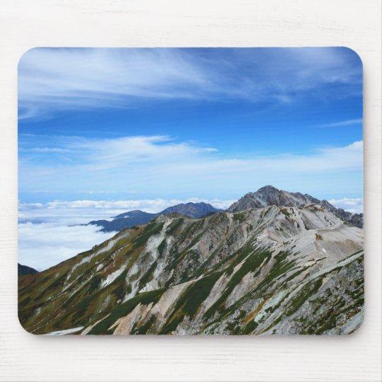 立山連峰の山並み マウスパッド