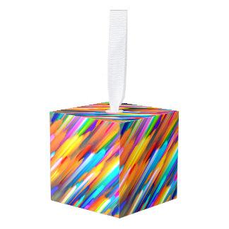 立方体のオーナメントのカラフルなデジタルアートG391 キューブオーナメント