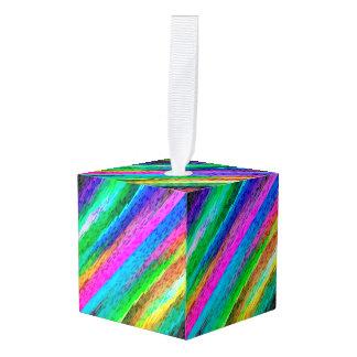 立方体のオーナメントのカラフルなデジタルアートG478 キューブオーナメント
