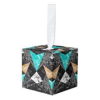 立方体のオーナメントの大理石幾何学的なG430 キューブオーナメント