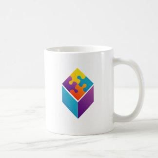 立方体のカラフルなパズル コーヒーマグカップ